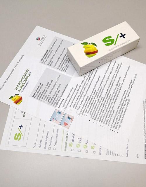 Test sensibilidad alimentaria S+ centro diagnóstico Calderón
